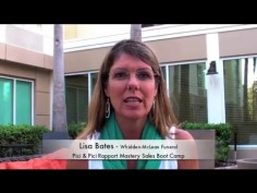 Lisa Bates shares her experience at the Rapport Mastery™ Sales Training Boot Camp – Whidden McLean Funeral Services